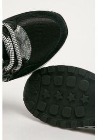 Czarne buty sportowe Pepe Jeans z okrągłym noskiem, z cholewką, na sznurówki
