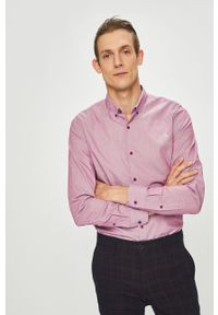 Różowa koszula medicine button down, na co dzień, casualowa, długa