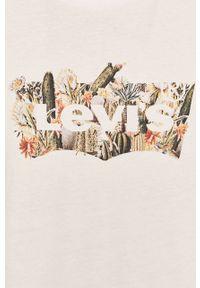 Biały t-shirt Levi's® casualowy, z nadrukiem