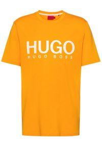 Hugo T-Shirt Dolive212 50447980 Pomarańczowy Regular Fit. Kolor: pomarańczowy