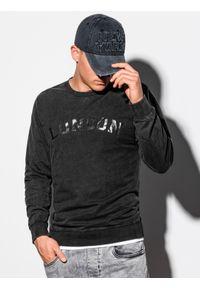Czarna bluza Ombre Clothing klasyczna, z nadrukiem
