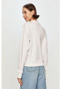 Biała bluza Guess z nadrukiem, na co dzień, bez kaptura