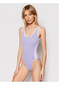 Fioletowy strój kąpielowy Adidas