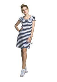 e-margeritka - Sukienka ciążowa do karmienia na lato - xl. Okazja: na co dzień. Kolekcja: moda ciążowa. Materiał: wiskoza, materiał, elastan. Sezon: lato. Styl: casual