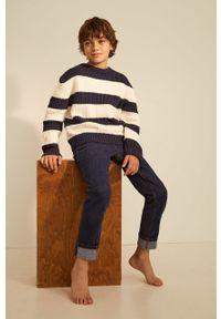 Niebieski sweter Mango Kids