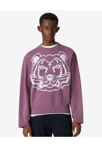 Kenzo - KENZO - Bluza z nadrukiem K-Tiger. Kolor: różowy, wielokolorowy, fioletowy. Materiał: bawełna. Długość rękawa: długi rękaw. Długość: długie. Wzór: nadruk