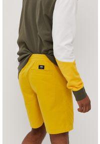 Żółte szorty Vans gładkie, casualowe, na co dzień