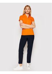 Pomarańczowa koszulka polo Polo Ralph Lauren polo