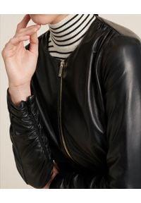Luisa Spagnoli - LUISA SPAGNOLI - Skórzana kurtka Valigia. Kolor: czarny. Materiał: skóra. Długość rękawa: długi rękaw. Długość: długie