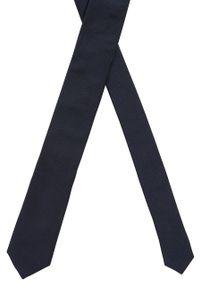 Niebieski krawat BOSS gładki