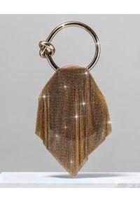 BENEDETTA BRUZZICHES - Torebka do ręki Casper Medium Temple of Isle. Kolor: złoty. Rodzaj torebki: do ręki