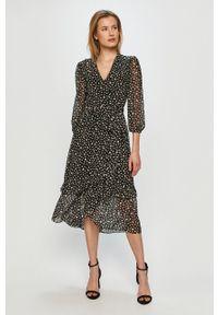 Czarna sukienka Miss Sixty klasyczna, z długim rękawem