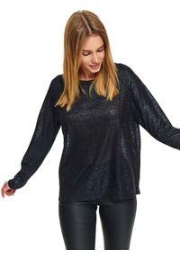 Turkusowy sweter TOP SECRET z długim rękawem, na zimę