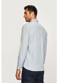 Niebieska koszula PRODUKT by Jack & Jones długa, button down, na co dzień