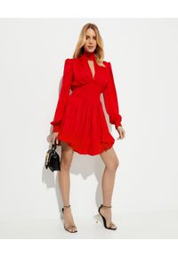 Czerwona sukienka mini VERSACE asymetryczna