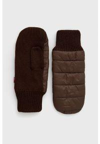 Levi's® - Levi's - Rękawiczki. Kolor: brązowy. Materiał: poliester. Styl: biznesowy