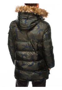 Zielona kurtka Ombre Clothing moro, na zimę