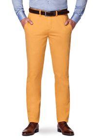Lancerto - Spodnie Curry Chino Pedro II. Okazja: na co dzień. Materiał: tkanina, elastan, syntetyk, materiał, bawełna. Wzór: moro, kolorowy. Styl: militarny, elegancki, sportowy, klasyczny, casual