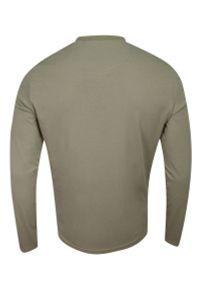 Brave Soul - Koszulka Longsleeve, Beżowa z Długim Rękawem, T-shirt Męski, Jednokolorowy z Logo -BRAVE SOUL. Okazja: na co dzień. Kolor: beżowy, brązowy, wielokolorowy. Materiał: bawełna. Długość rękawa: długi rękaw. Długość: długie. Wzór: aplikacja. Styl: casual