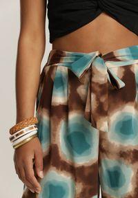Renee - Miętowe Spodnie Laomethylia. Kolor: miętowy