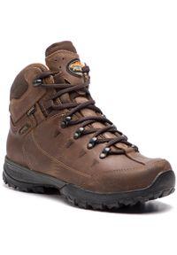 Brązowe buty trekkingowe MEINDL trekkingowe, z cholewką, Gore-Tex