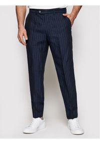 Oscar Jacobson Spodnie materiałowe Nico 52335685 Granatowy Regular Fit. Kolor: niebieski. Materiał: materiał
