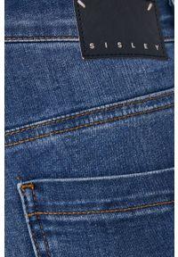 Sisley - Jeansy Papeete. Kolor: niebieski