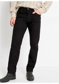 Czarne jeansy bonprix klasyczne, z podwyższonym stanem