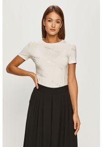 Biała bluzka Miss Sixty na co dzień, z aplikacjami, casualowa