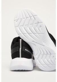 Czarne buty sportowe skechers z cholewką, z okrągłym noskiem