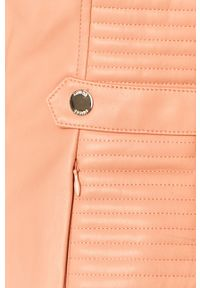 Pomarańczowa kurtka Guess Jeans bez kaptura