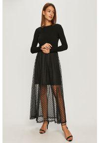 Czarna sukienka Guess Jeans casualowa, maxi