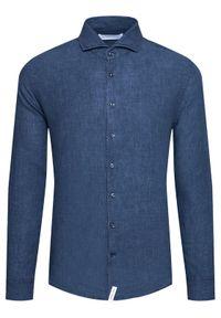 Baldessarini Koszula Henry B3 10000/000/3030 Granatowy Tailored Fit. Kolor: niebieski #3