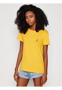 Patrizia Pepe T-Shirt 8M1207/A8U4-R713 Żółty Regular Fit. Kolor: żółty