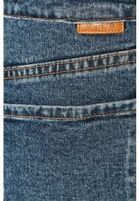 Niebieskie proste jeansy Vila casualowe
