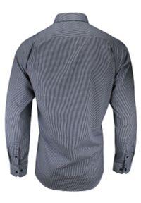 Niebieska elegancka koszula Jurel z długim rękawem, do pracy, długa, z klasycznym kołnierzykiem