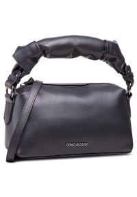 Czarna torebka klasyczna Gino Rossi skórzana, klasyczna