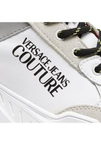 Beżowe sneakersy Versace Jeans Couture