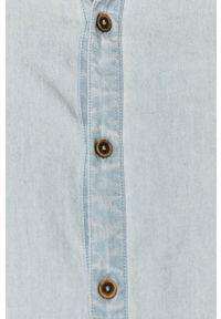 Niebieska koszula medicine casualowa, ze stójką, na co dzień