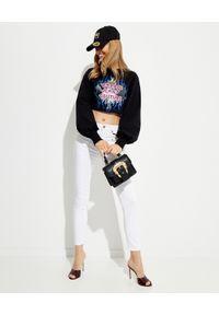 Versace Jeans Couture - VERSACE JEANS COUTURE - Białe jeansy Skinny. Kolor: biały. Wzór: aplikacja