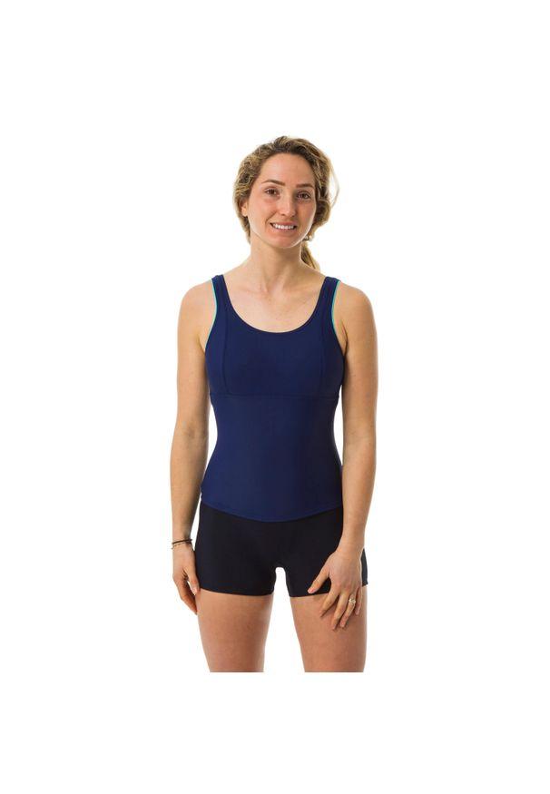 NABAIJI - Strój Jednoczęściowy Do Gimnastyki W Wodzie Doli Damski. Kolor: niebieski. Materiał: poliester, poliamid, materiał, elastan