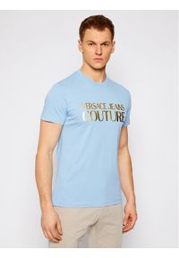 Niebieski t-shirt Versace Jeans Couture