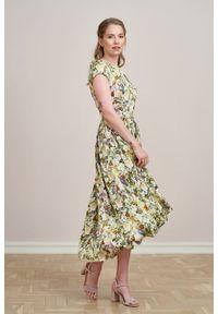 Marie Zélie - Sukienka Antea Fiore. Materiał: wiskoza, materiał. Długość rękawa: krótki rękaw. Typ sukienki: asymetryczne