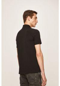 Czarna koszulka polo EA7 Emporio Armani casualowa, krótka, na co dzień