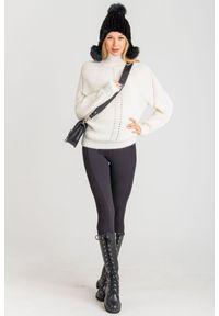 Sweter Pinko krótki, na spacer, z długim rękawem