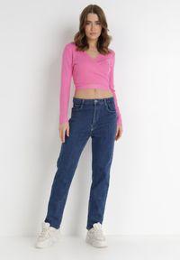 Born2be - Niebieskie Jeansy Regular Ocypaene. Stan: podwyższony. Kolor: niebieski. Długość: długie