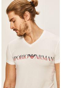 Biały t-shirt Emporio Armani na co dzień, casualowy