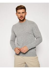 Woolrich Sweter Supergeelong Logo CFWOKN0073MR UF0469 Szary Regular Fit. Kolor: szary