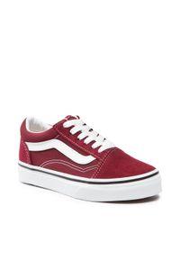 Vans - Tenisówki VANS - Old Skool VN000W9T9AK1 Pomegranate/True White. Kolor: czerwony. Materiał: skóra, materiał, zamsz