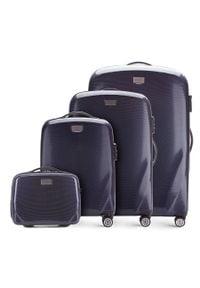 Wittchen - Zestaw walizek z polikarbonu jednokolorowych. Kolor: niebieski. Materiał: guma